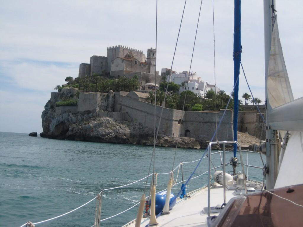 Die Burg von Peñiscola. Nur ca. 8 Seemeilen von unserem Heimathafen entfernt.