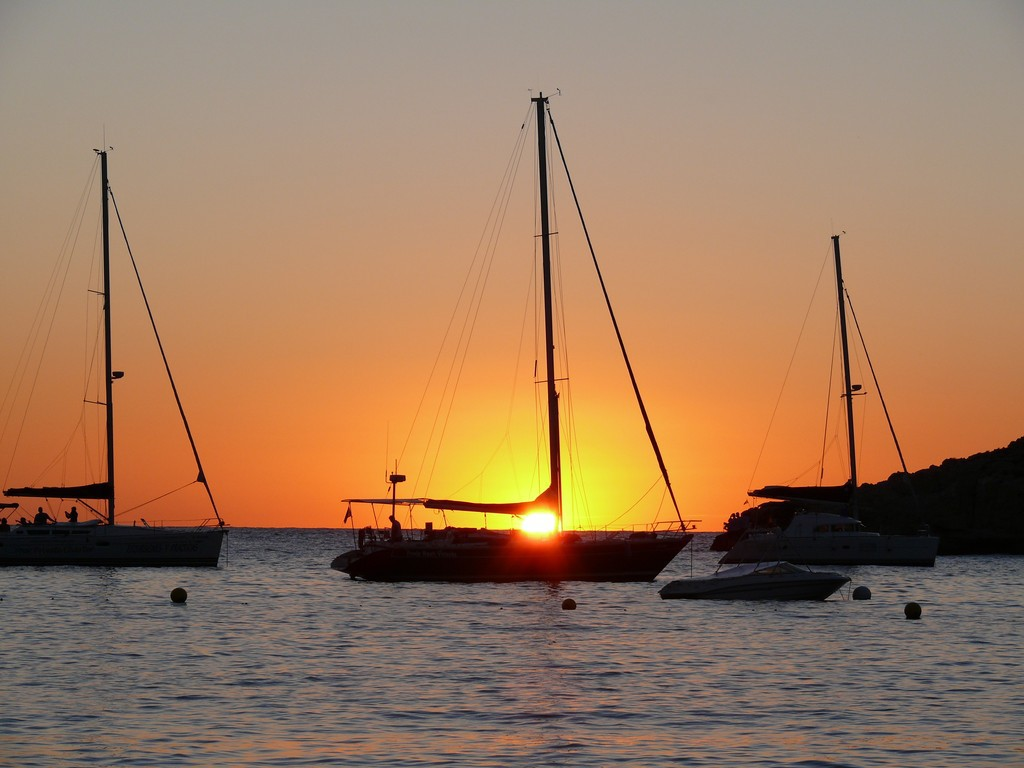 Sonnenuntergang in der Cala Bassa, Ibiza